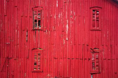 fine art photography, red barn