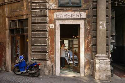 fine art photography, Rome, Italy, travel photography, barber shop